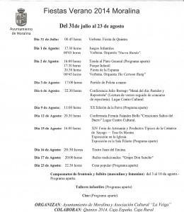 Programa Fiestas Moralina_ 2014